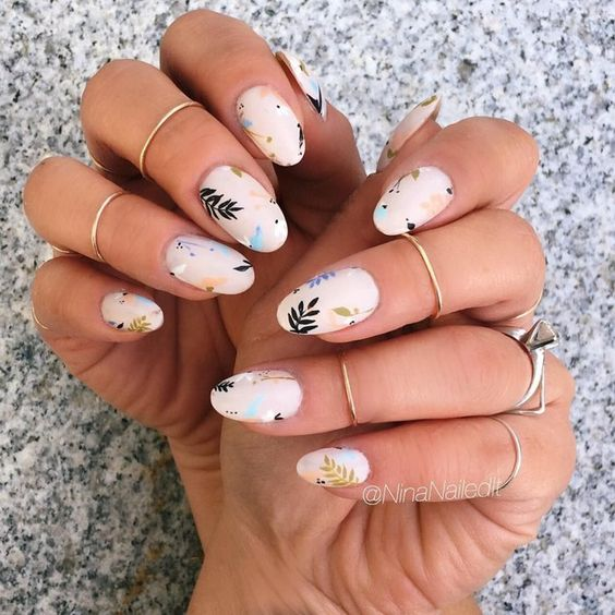 What are the spring 2021 nails designs trends