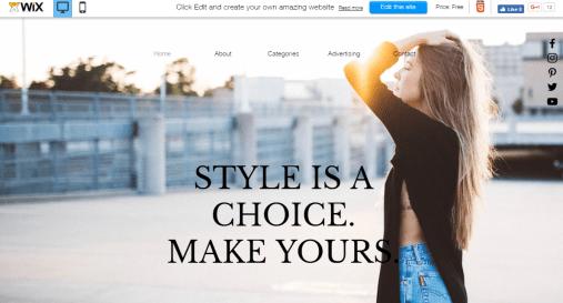 Wix edit site