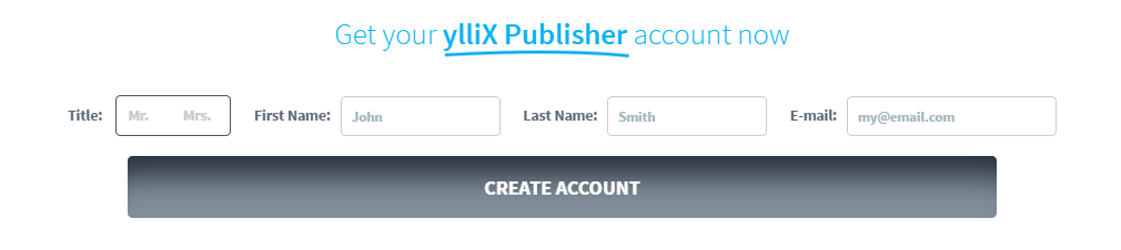 Yllix sign up