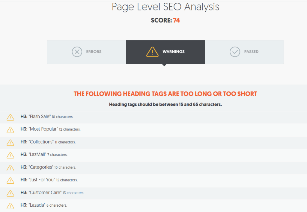 Page Level SEO Analysis