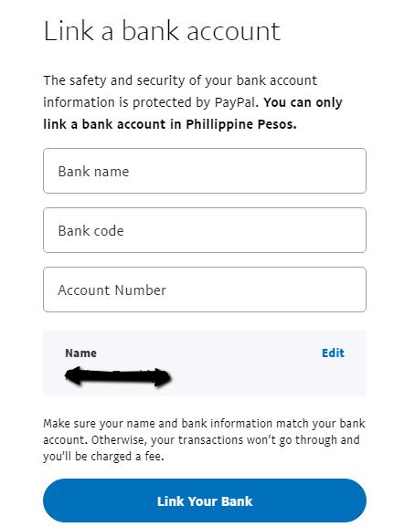 Linking BDO to PayPal