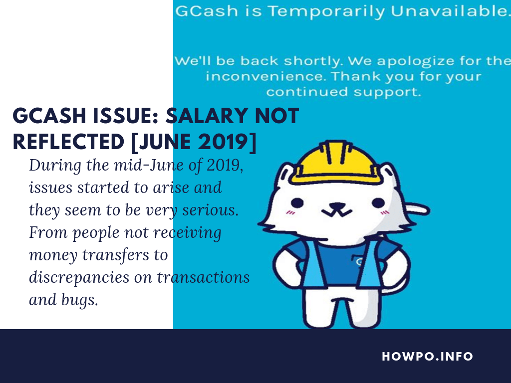 Gcash Issue Salary not Reflected June 2019