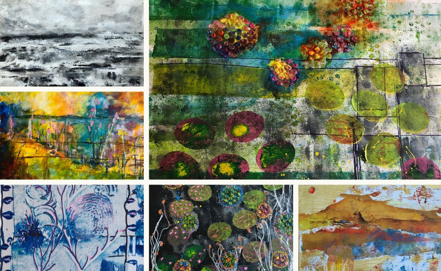 Sheila MacNeill artist montage of recent work