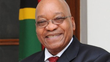 Jacob Zuma smiling