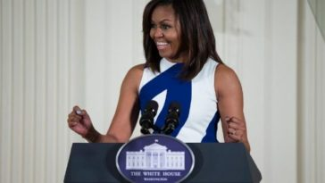 michelle obama giving a speech