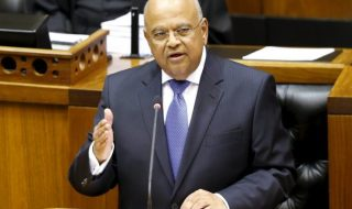 Pravin Gordan Delivering a speech