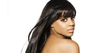 black woman with long hair