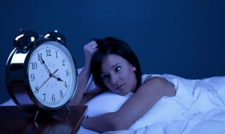 lady suffering from insomnia