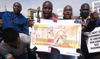 south africans protesting against zuma