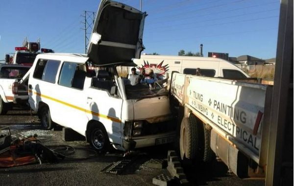 Taxi driver flees after 14 people injured