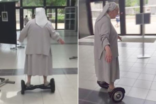 Nun, 77, Spotted Riding Hoverboard