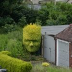 Mum Cuts Her Bush Into Shape Of Son's Face