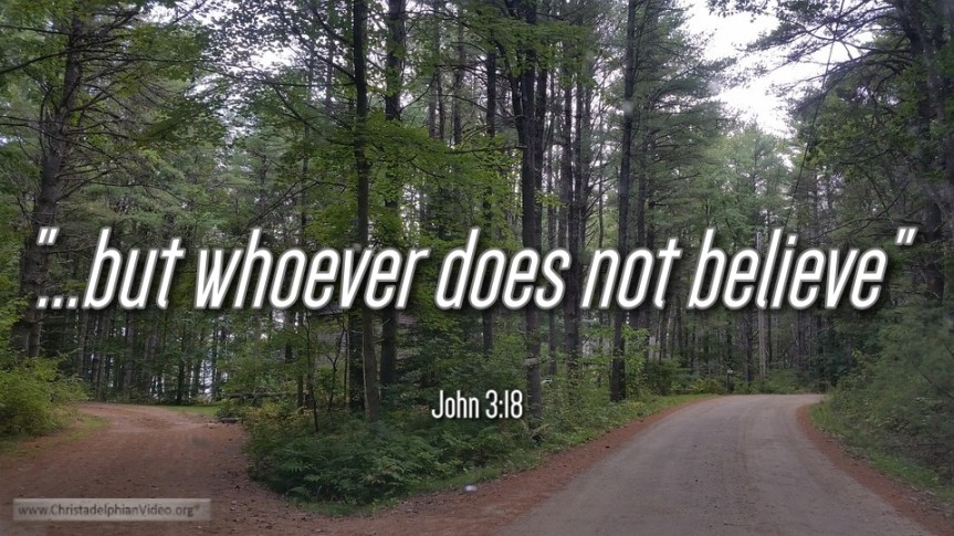 """Thought for April 11th. """"WHOEVER DOES NOT BELIEVE IS …"""""""
