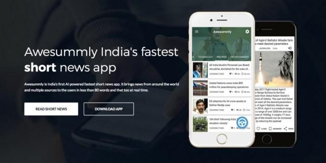 Awesummly Short News App