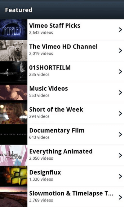 YouTube Alternative - Vimeo