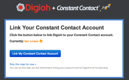 Link Digioh to ConstantContact