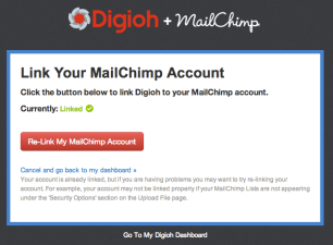 Link Digioh and MailChimp Accounts