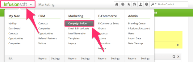 Infusionsoft Campaign Builder