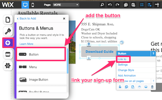 Sign-Up Form Button