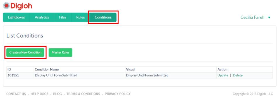Click Create a New Condition