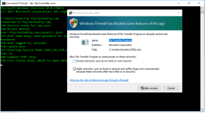 Command Line, Firewall, Support