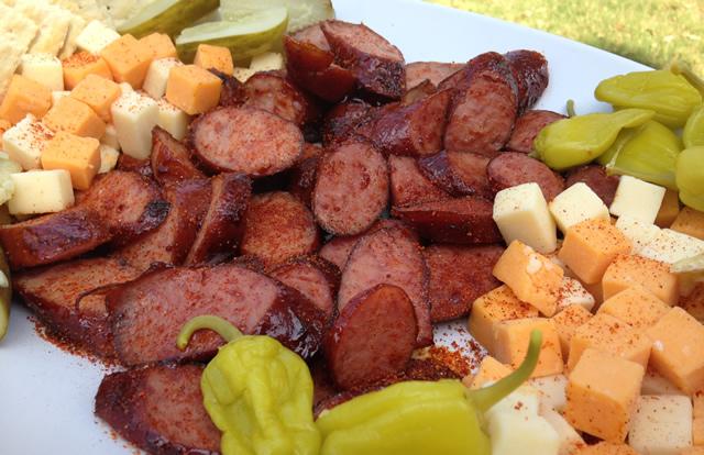 sausagecheeseplate2 & Sausage and Cheese Plate