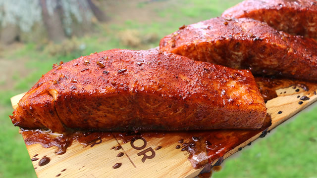 Grilled Salmon with Honey Balsamic Glaze
