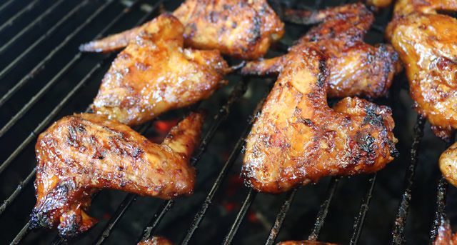thai style grilled wings