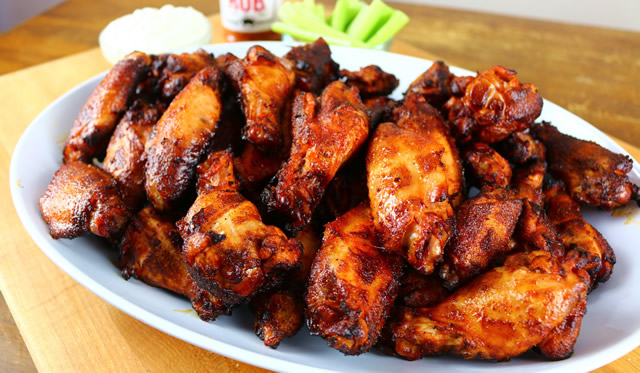 smoked party wings
