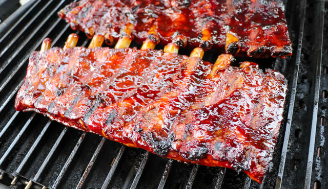 char grilled ribs