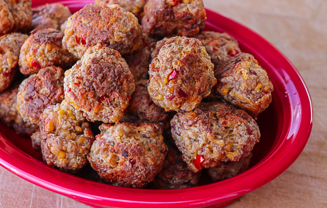 Spicy Sausage & Cheese Balls