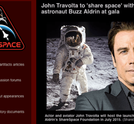 ShareSpace with John Travolta and Buzz Alrdin