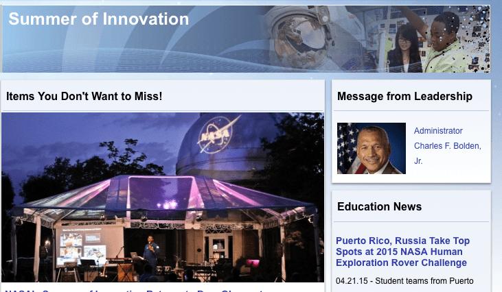 NASA summer of innovation