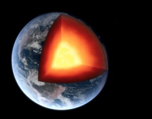 The earth's core is like the core content of a blog or blogged book.