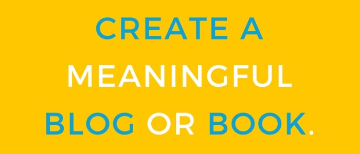 Start a Movement with a Blog or Book