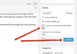 wordpress schedule option