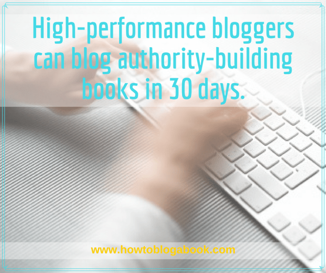 blog a book in a month with these tips