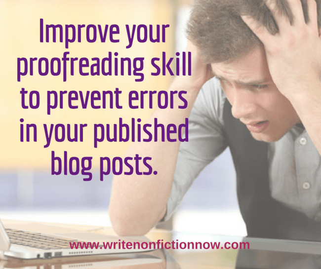 avoid errors by learning to proof posts like a pro