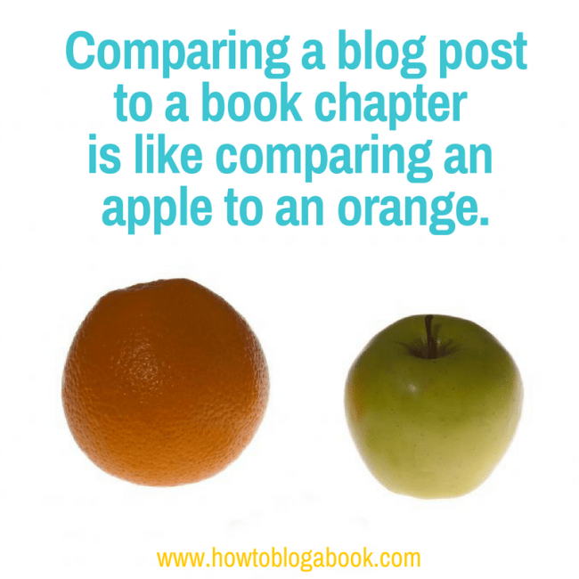 differences between blog posts and chapters