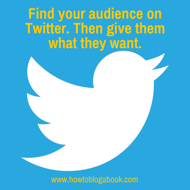find book audience on twitter