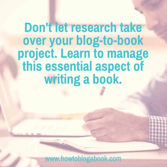 blog-to-book research