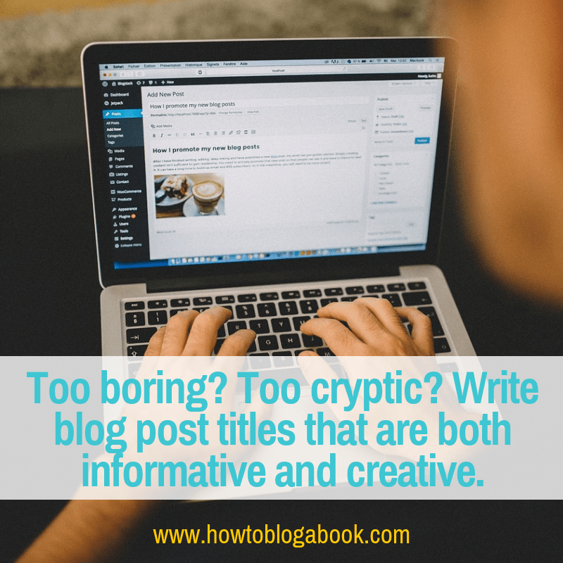how to write blog post titles
