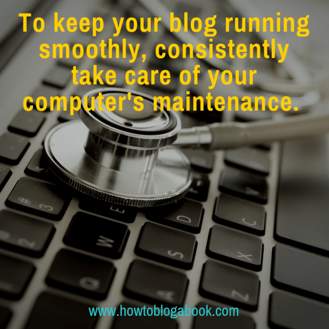 blog and computer maintenance