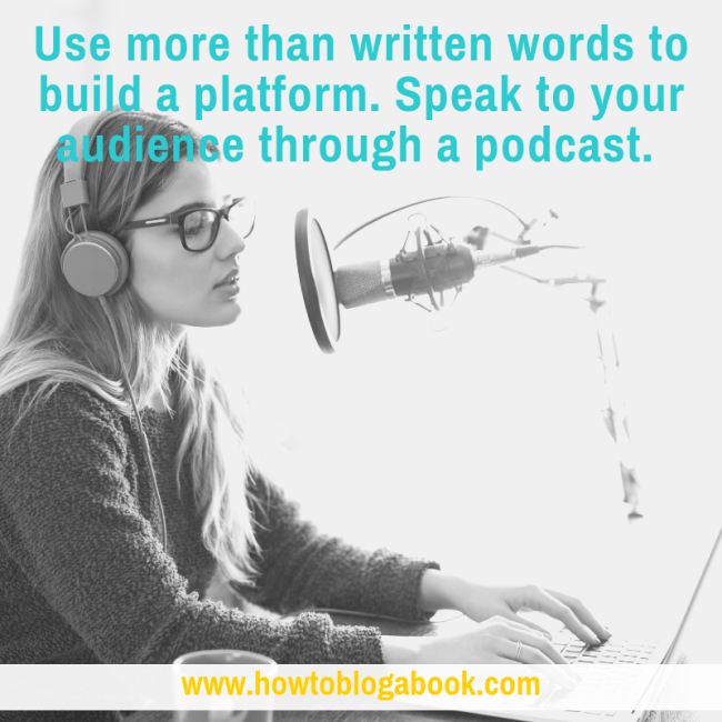 build author platform with a podcast