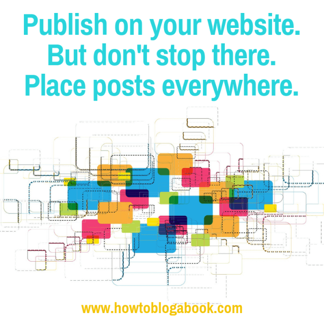 places to publish blog posts in addition to your own website