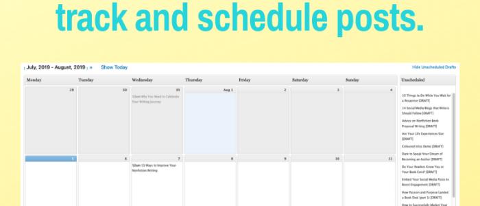 an editorial calendar plugin helps you create a blogging schedule