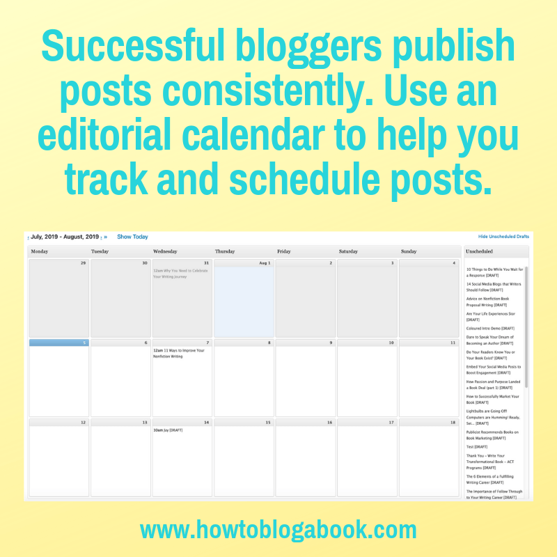 an editorial calendar plugin helps you create a blogging schedule