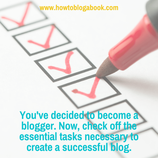an essential checlist for new bloggers