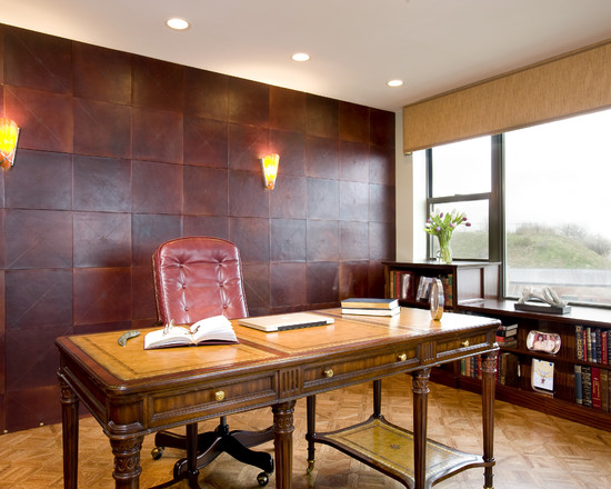 Refinement And Elegance Leather Floors And Walls How To Build A House