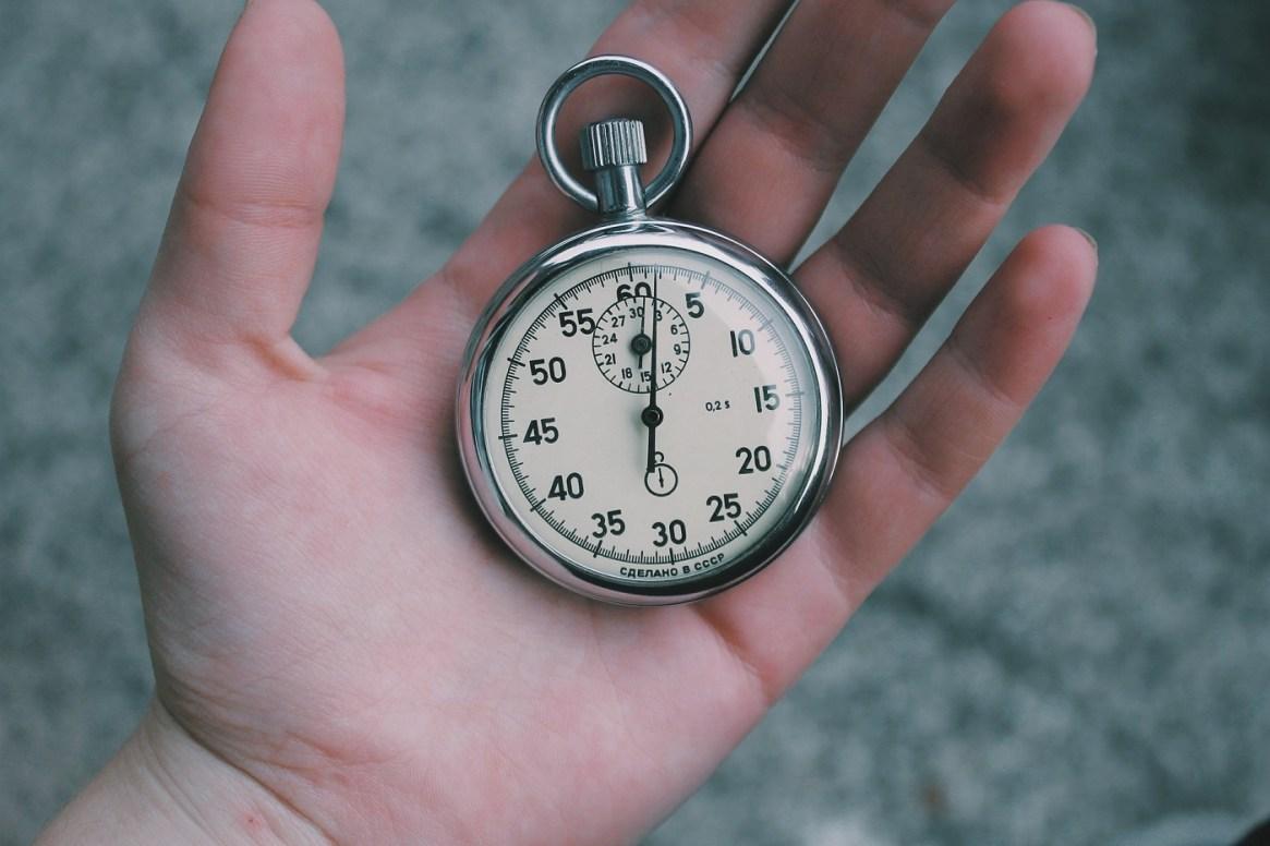 Set a timeframe.